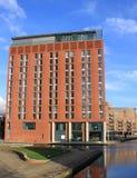 Hotel de la menta, embarcadero del granero, línea de costa Leeds, Reino Unido foto de archivo libre de regalías