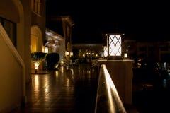 Hotel de la noche Fotos de archivo