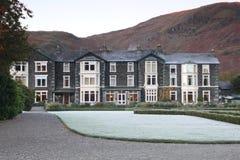 Hotel de la orilla del lago Imagen de archivo