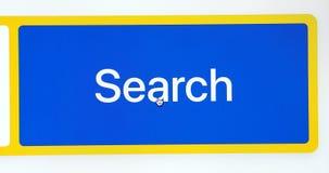 Hotel de la palabra escrito en barra de la búsqueda almacen de metraje de vídeo