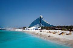 Hotel de la playa de Dubai Jumeirah fotos de archivo
