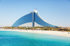 Hotel de la playa de Jumeirah, Dubai Imagen de archivo