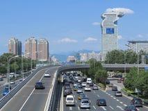 Hotel de la plaza de Pekín Pangu en parque olímpico Foto de archivo