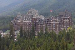 Hotel de la primavera de Banff fotografía de archivo libre de regalías