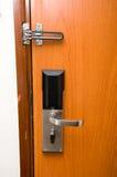 Hotel de la puerta de bloqueo Fotografía de archivo libre de regalías