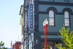 Hotel de la sociedad en la ciudad de Portland - PORTLAND - OREGON - 16 de abril de 2017 Foto de archivo