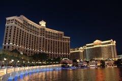 Hotel de Las Vegas Bellagio por noche fotos de archivo libres de regalías