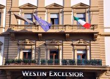 Hotel de las virutas para rellenar de Westin en Florencia, Italia Imágenes de archivo libres de regalías