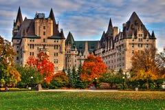 Hotel de Laurier del castillo francés en Ottawa Fotografía de archivo