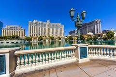 Hotel de lujo Bellagio en Las Vegas Imágenes de archivo libres de regalías