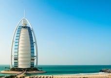Hotel de lujo Burj Al Arab Tower de los árabes Imágenes de archivo libres de regalías