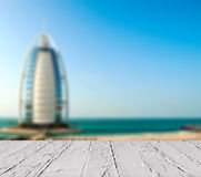Hotel de lujo Burj Al Arab Tower de los árabes Fotografía de archivo libre de regalías