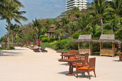 Hotel de lujo de la playa Fotos de archivo libres de regalías