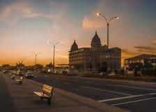 Hotel de lujo de la señal de Montevideo Imagen de archivo libre de regalías