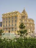 Hotel de lujo de la señal de Montevideo Foto de archivo