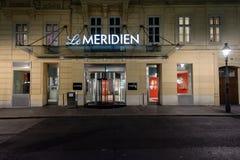 Hotel de lujo de Le Meridien en el corazón de Vienn Fotografía de archivo libre de regalías
