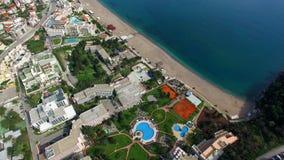 Hotel de lujo Dukley complejo en Budva, Montenegro Tiroteo con almacen de video