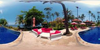 Hotel de lujo por el mar vr360 almacen de metraje de vídeo