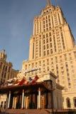 Hotel de lujo Radisson - Ucrania en Moscú Imágenes de archivo libres de regalías