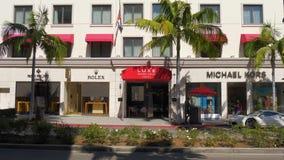Hotel de lujo de Rodeo Drive en Beverly Hills - CALIFORNIA, los E.E.U.U. - 18 DE MARZO DE 2019 almacen de metraje de vídeo
