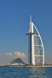 Hotel de luxo Burj Al Arab em Dubai Foto de Stock Royalty Free