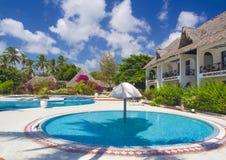 Hotel de luxo em Bweeju, Zanzibar imagens de stock royalty free