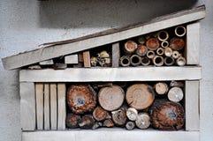 Hotel de madera de los insectos Fotografía de archivo libre de regalías
