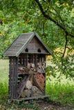 Hotel de madera del insecto Foto de archivo libre de regalías