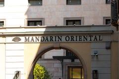 Hotel de Mandarin Oriental foto de stock
