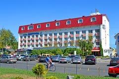 Hotel de Mirgorod en el centro turístico ucraniano famoso Myrhorod, Ucrania de la salud, foto de archivo