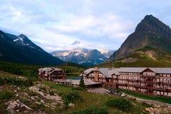 Hotel de muchos glaicers. Montana fotografía de archivo libre de regalías