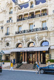 Hotel de Paris in Monaco stock photography