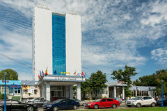 Hotel de quatro estrelas no Mar Negro Foto de Stock