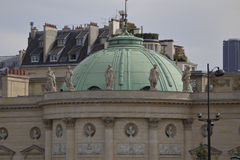 Hotel de Salm Dome, inspiration to Thomas Jefferson for Monticello home in Virginia, Paris, France, August 2015 Royalty Free Stock Photo