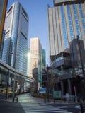 Hotel de Shiodome da fonte da casa de campo no Tóquio, Japão Imagem de Stock Royalty Free