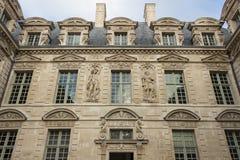 The Hotel de Sully, Paris, France. The hotel de Sully ,its mannerist ornamental motifsare representative of the late Renaissance: heads of women, plant motifs Stock Image