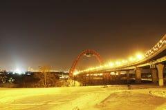 Hotel de Ucrania en la noche Imagenes de archivo