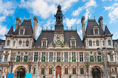 Hotel de Ville, Παρίσι, Γαλλία. Στοκ Εικόνες