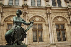 Hotel de Ville巴黎法国 库存图片