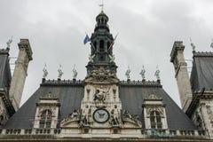 Hotel de Ville,巴黎 免版税图库摄影