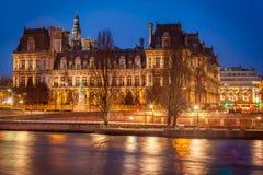 Hotel de Ville,巴黎 免版税库存照片