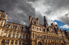 Hotel-de-Ville City Hall in Paris - building housing City of Paris`s administration. Royalty Free Stock Image