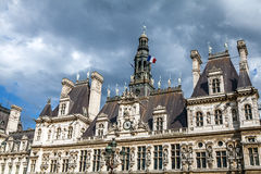 Hotel-de-Ville City Hall in Paris - building housing City of Paris`s administration. Royalty Free Stock Photos