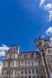 Hotel de Ville City Hall in Paris. Detil of the Hotel de Ville City Hall in Paris, France Stock Photos