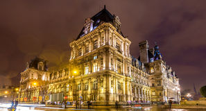 Hotel de Ville (City Hall) of Paris Stock Image