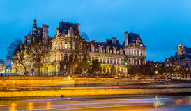 Hotel de Ville (City Hall) of Paris Royalty Free Stock Photography