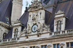 Hotel de Ville Clock Immagine Stock