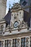 Hotel de Ville Clock Immagini Stock Libere da Diritti