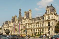 Hotel-de-Ville, construção da câmara municipal de Paris, Paris, França fotos de stock royalty free