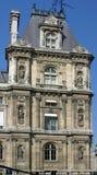 Hotel De Ville De Nuit en París Foto de archivo libre de regalías